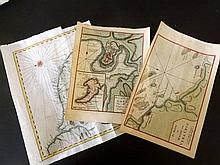 Americas. 18th Cent. Collection of 3 Maps by Tirion, Bellin & The London Magazine
