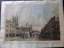 Malton, Thomas 1780 Hand Coloured Aquatint. Kingston upon Hull, Yorkshire Humber