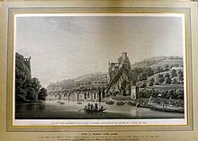 Piringer, Benedikt after Francois-Marie de Fortis 1819 Large Aquatint of Lyon, France