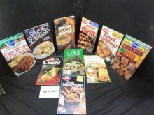 Ten Pillsbury/Betty Crocker recipe books, various subjects