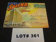 Salina, Kansas souvenier package of photo cards copyright 1942, excellent condition, 9 cards with vintage photos on each side