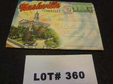 Nashville Tennessee souvenier package of photo cards copyright 1938, excellent condition, 9 cards with vintage photos on each side