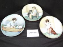 Three Bessie Pease Guttman collectible plates,