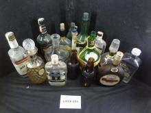 Sixteen regular size bottles, various types, 2 are Sioux City Sarsaparilla