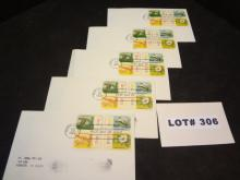 Five first day covers, postmarked