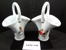 Two porcelain Easter baskets, from