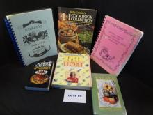 Eleven cookbooks, various titles (shown)