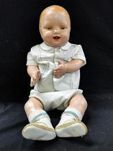 Vintage doll - composition head, hands and legs