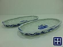 PAIR OF LARGE SAUCERS