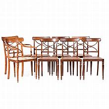 SET OF 6 CHAIRS + 2 FAUTEILS
