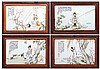 SET OF 4 ORIENTAL PLAQUES