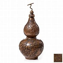 GOURD VASE WITH LID