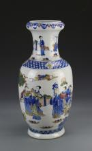 Chinese Blue and White Famille Rose Vase