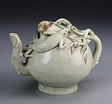 Chinese White Glazed Teapot