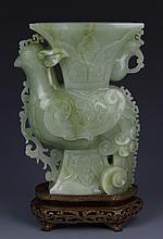 Chinese Jade Phoenix Vase
