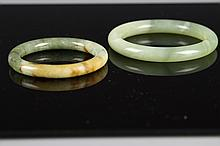 Pair of Chinese Jade Bangles