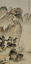 Chinese Scroll Painting of a Landscape Scene