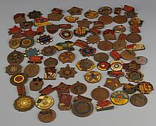 60 Chinese Metal Badges