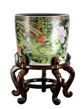 Chinese Famille Noir Jar