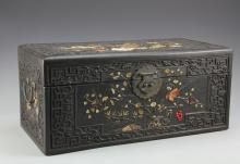 Chinese Carved Wood Box