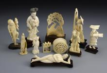 11 Chinese Ivory Figures