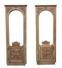 American Gothic Revival Oak Doors