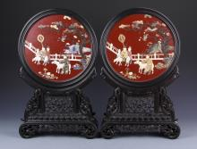 Pair of Chinese Table Screens