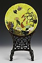 Chinese Round Yellow Jade with Stand