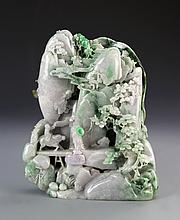Chinese Carved Jadeite Mountain