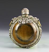 Chinese Gilt Horn Snuff Bottle