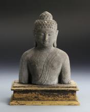 Chinese Asian Sand Stone Buddha Figure