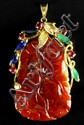 Chinese Gold and Jadeite Pendant