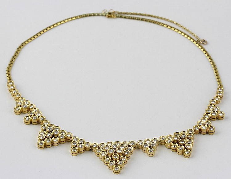 7 Ct. Diamond and Gold Necklace