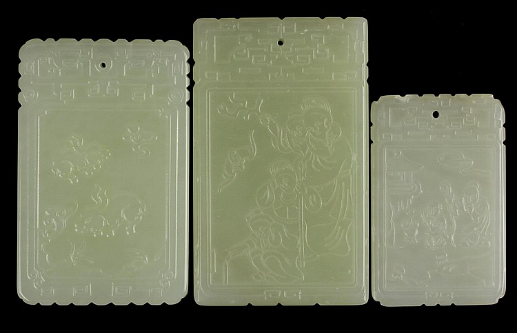 Three Chinese Jade Pendants