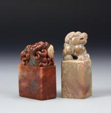 Two Chinese Shoushan Seal Chops
