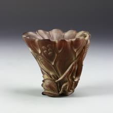 Chinese Horn Carved Libation Cup
