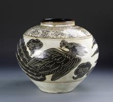 Chinese Cizhou Yao Phoenix Jar