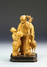 Chinese Cultural Revolution Boxwood Sculpture