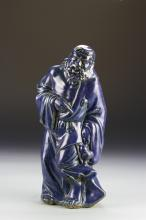 Chinese Blue Figure