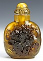 Chinese Amber Snuff Bottle