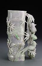 Chinese Jadeite Brush Pot