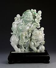 Chinese Jadeite Buddha Figure