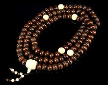 Chinese Wood Buddhist Prayer Beads