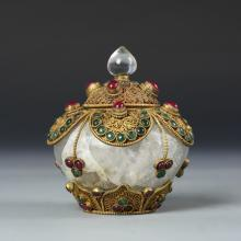 Chinese Tibetan Temple Jar