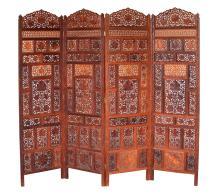 Four Thai Folding Panel Screens