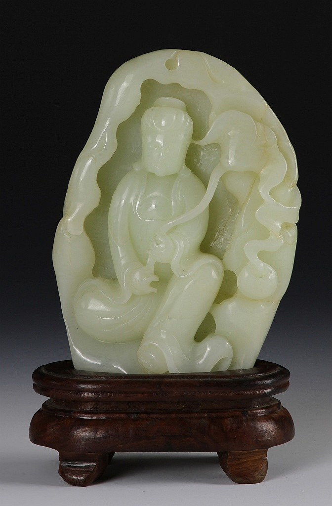 Chinese Carved Jade Guanyin