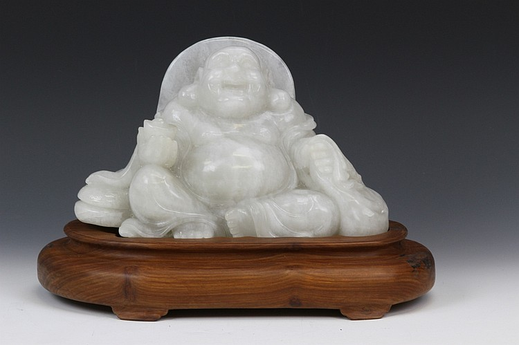 Chinese Carved Jade Buddha
