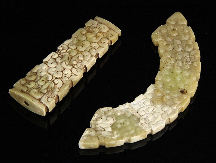 Two Carved Chinese Jade Pieces