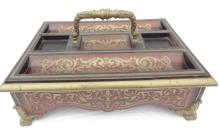 Antique French Table Top Boulle Desk