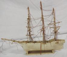 Red Jacket Ship Model in Whale Bone